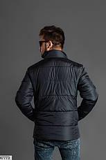 Мужская зимняя теплая куртка черная размеры:46,48,50,52, фото 2