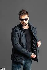 Мужская зимняя теплая куртка черная размеры:46,48,50,52, фото 3