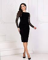 Платье бархатное  нарядное в расцветках 3326, фото 1