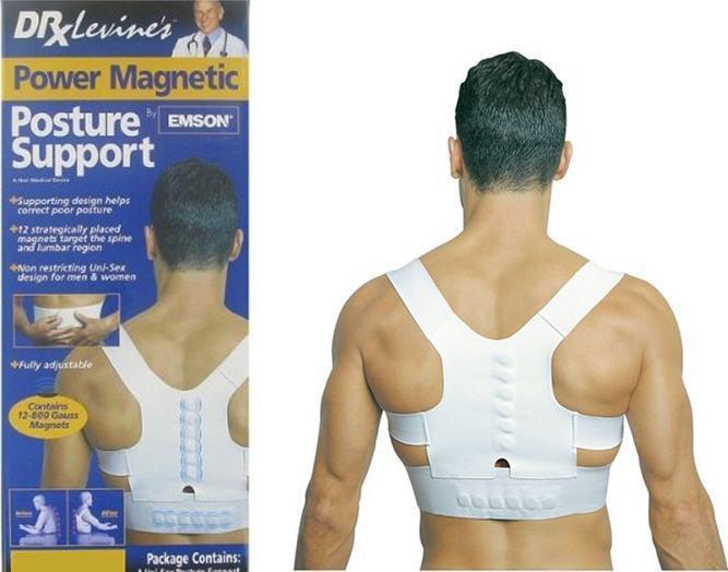 Магнитный корректор осанки для спины Posture Support унисекс Белый (1000045)