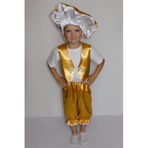Карнавальный костюм Гриб Лисичка мальчик