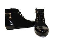 Замшевый ботинок с лаком, фото 1