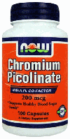 Пиколинат Хрома, Now Foods, Chromium Picolinate 200 mcg, 100 капсул
