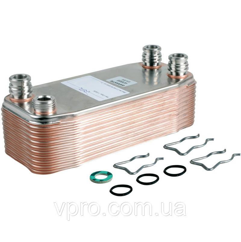Теплообменник вторичный (пластинчатый) газового котла Vaillant Atmo Max/Turbo Max Pro/Plus 32 kw, 36 kw. Art.