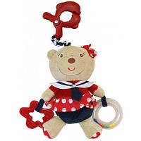 Игрушка подвеска музыкальная мишка морячка Baby mix E2552-3700