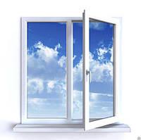 Окна металлопластиковые  Aluplast Ideal 2000 (3 камеры 60 мм) 1,30х1,40 полная комплектация с монтажем