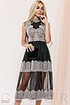 Прозоре плаття чорного кольору з мереживом, фото 4