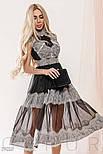 Прозоре плаття чорного кольору з мереживом, фото 5
