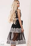 Прозоре плаття чорного кольору з мереживом, фото 6