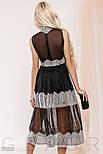 Прозоре плаття чорного кольору з мереживом, фото 7