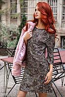 Стильне вечірнє плаття з рукавом 3/4, розшите паєтками чорно-золотистий  розмір 44 46 48