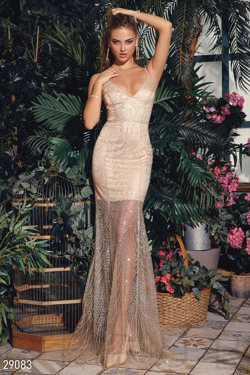c1438fe2ae7 Вечернее платье-годе с блестящим напылением  продажа