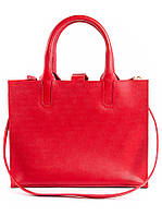 Кожаная сумка красная Sollo 6761-11, фото 1