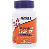 Now Foods, Убихинол CoQH-CF, 60 гелевых капсул, фото 1