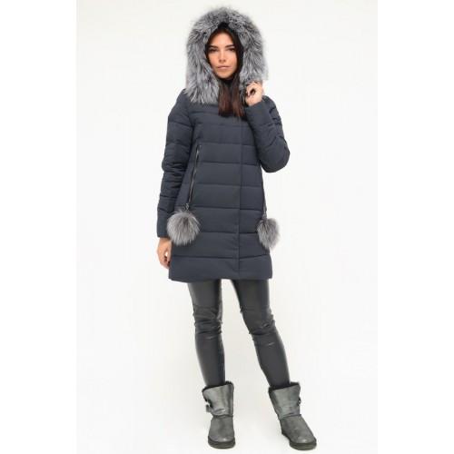 Зимова куртка 636 Синій