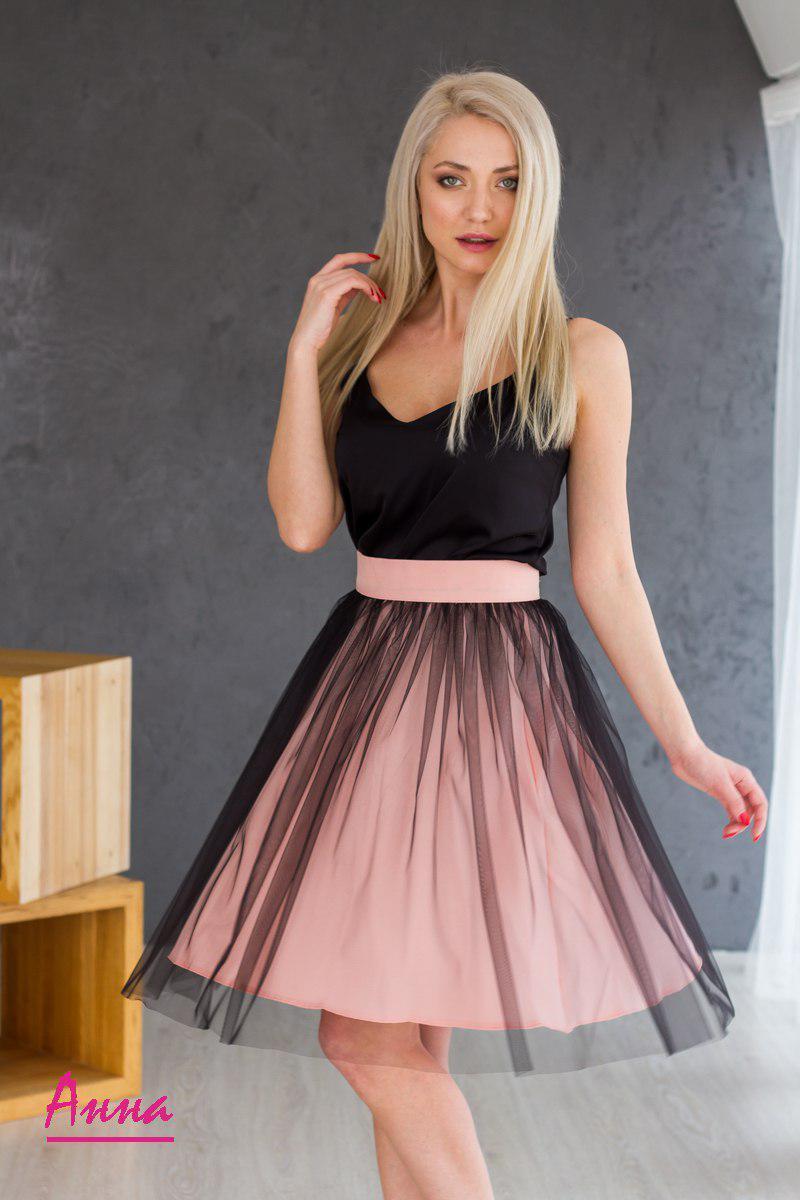 59ecfa85859 Купить Клешеная женская юбка с фатином v1294  доставка по всей ...