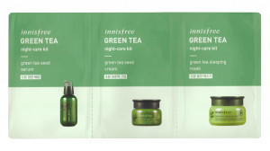 Innisfree Ночной Уход Зеленый Чай Пробники Night-Care Kit 2ml+2ml+2ml 3ед