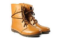 Рыжие ботинки женские кожаные