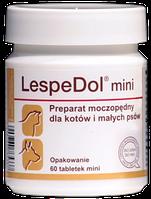 Dolfos LespeDol mini 60 табл. - ЛеспеДол Мини - добавка с мочегонным действием для собак мелких пород и кошек