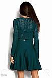 Расклешенное женское платье изумрудного цвета, фото 3