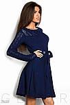 Расклешенное женское платье синего цвета, фото 2