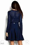 Расклешенное женское платье синего цвета, фото 3
