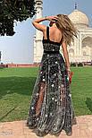 Вечернее платье-макси со звездами, фото 2