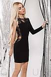 Ассиметричное платье-мини черного цвета, фото 2