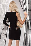 Ассиметричное платье-мини черного цвета, фото 3