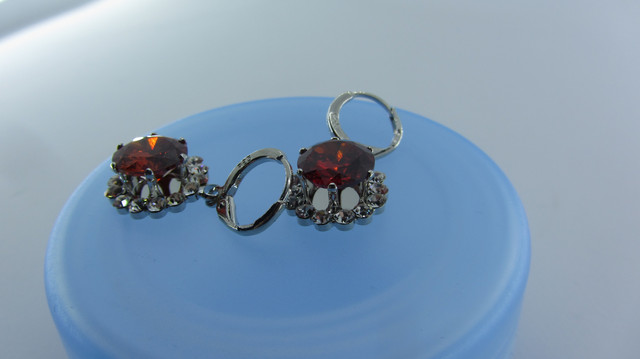 Серебряные серьги Кристалл из стерлингового серебра 925 пробы с кубическим цирконием