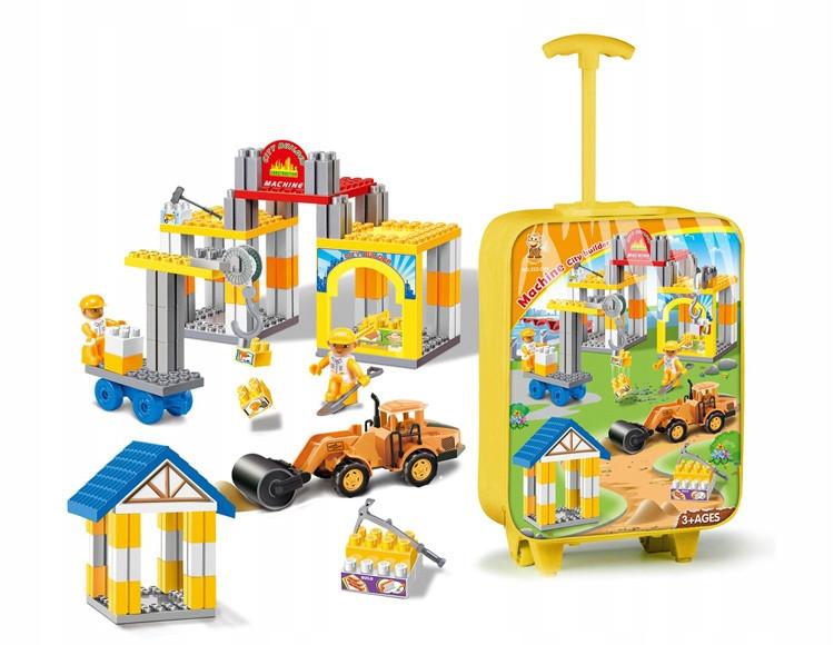 Конструктор для мальчиков в чемодане набор строительных блоков