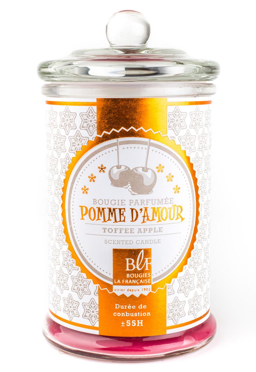 Свеча ароматизированная BLF  BONBONNIERE 55H Pomme damour     GLASS 459310-BLF 7,2 см