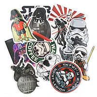 "20шт. Подборка ""Star Wars"" наклейки стикеры на ноутбук, скутер , скейт, шлем (083073)"