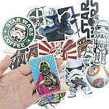 """20шт. Добірка """"Star Wars"""" наклейки, стікери на ноутбук, скутер , скейт, шолом (083073), фото 2"""