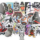 """20шт. Добірка """"Star Wars"""" наклейки, стікери на ноутбук, скутер , скейт, шолом (083073), фото 3"""