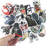 """20шт. Добірка """"Star Wars"""" наклейки, стікери на ноутбук, скутер , скейт, шолом (083073), фото 5"""