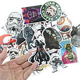 """20шт. Добірка """"Star Wars"""" наклейки, стікери на ноутбук, скутер , скейт, шолом (083073), фото 4"""