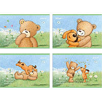 Альбом 12 листов Kite Popcorn Bear PO18-241 на скобе