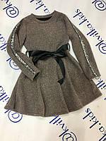 Платье тёплое вязаное на девочку размер  4,6 лет