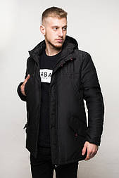 "Куртка зимняя мужская DarkSide ""All Black"" парка. Живое фото"