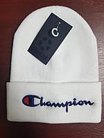 Зимняя шапка в стиле Champion   Топ качество!