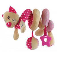 Игрушка спираль Кошка розовая Baby Mix STK17519C