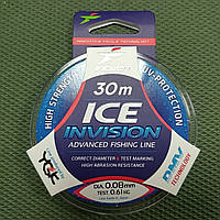 Леска Intech Ice Invision 30м 0.08мм 0.61кг прозрачная (1110121)