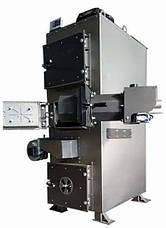 Пиролизный ДВУХКОНТУРНЫЙ котел на пеллетах DM-STELLA 30 кВт с автоматическим золоудалением, фото 2