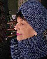 Вязанный комплект - шарф и шапка, ручная работа