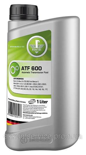 Синтетическая жидкость для автоматических трансмиссий REKTOL ATF 600 (1 L)