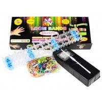 Набор для плетения резинками Rainbow Loom Bands 600шт. + станок, крючок, клипсы 600ЧК