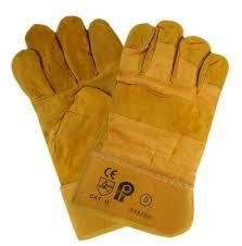 Перчатки кожаные спилковые комбинированые