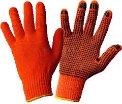 Перчатки рабочие трикотажные и с пвх точкой