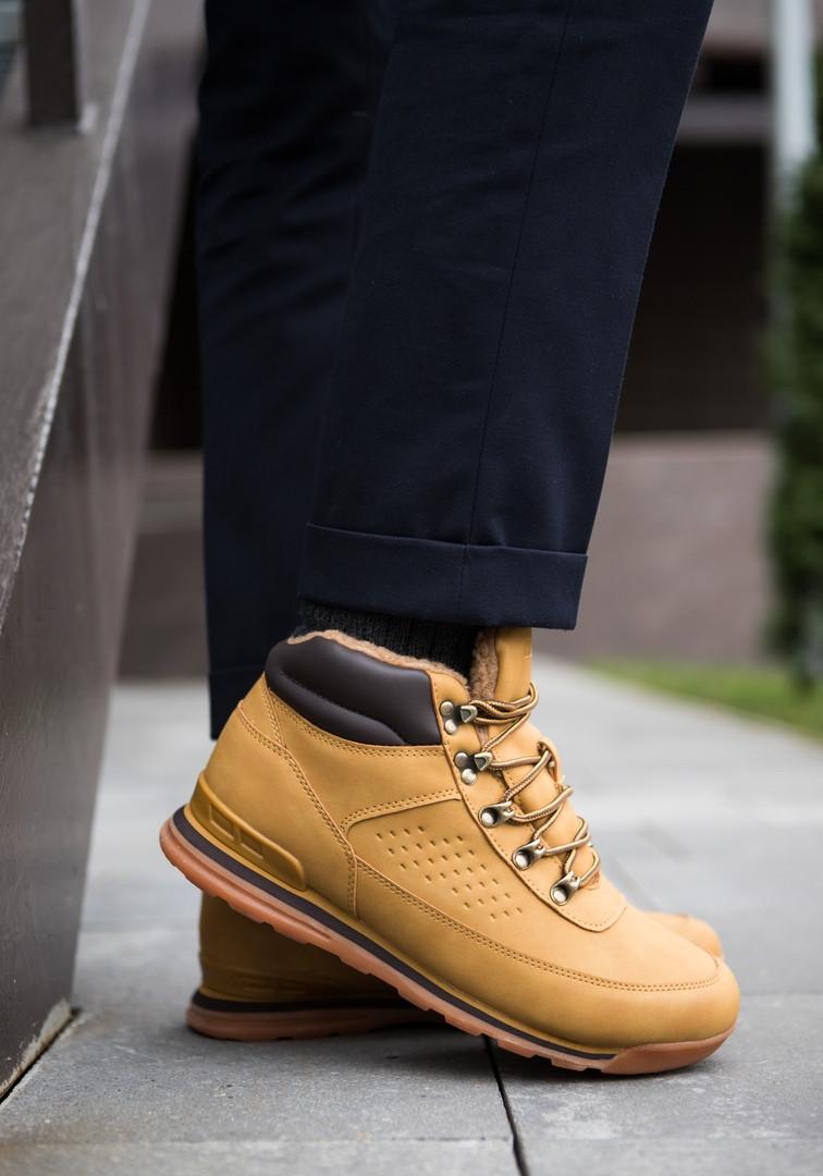 Мужские кроссовки на меху индастри рыжие